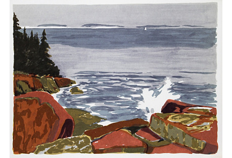 Rocky Shore by Joseph A. Fiore