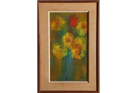 Yellow Flowers by Miriam Bromberg