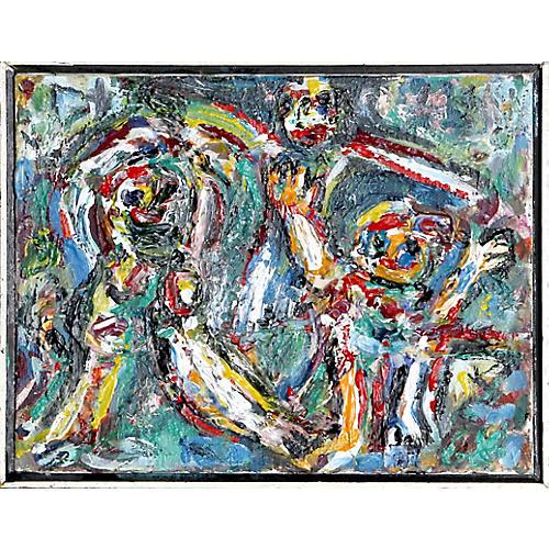 Three Children Playing by David Messer