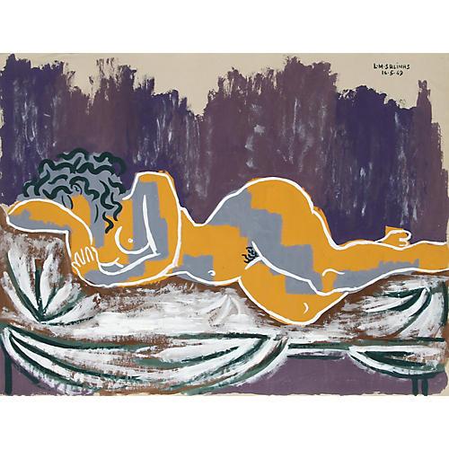 Purple Nude by Laurent Marcel Salinas