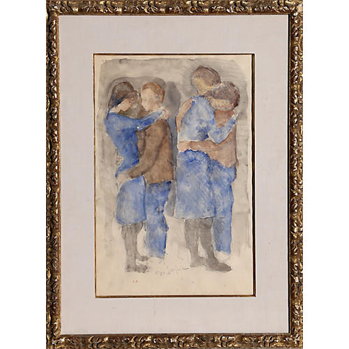 Dancing Couples by Moses Soyer