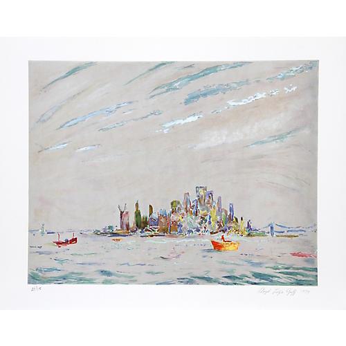 New York Harbor by Lloyd Lozes Goff
