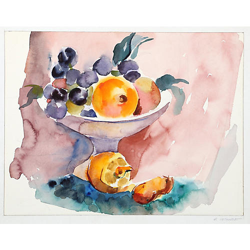 Still Life with Fruit by Eve Nethercott