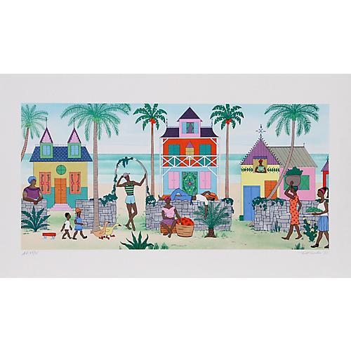 Haitian Village by Jack Hofflander