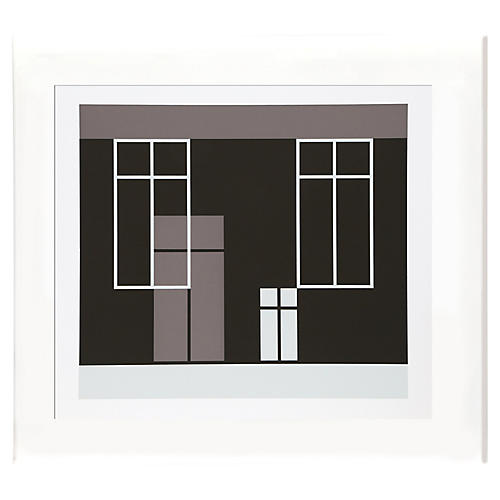 Black and White Windows by Josef Albers