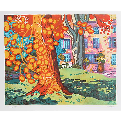 Backyard Tree by Guy Charon