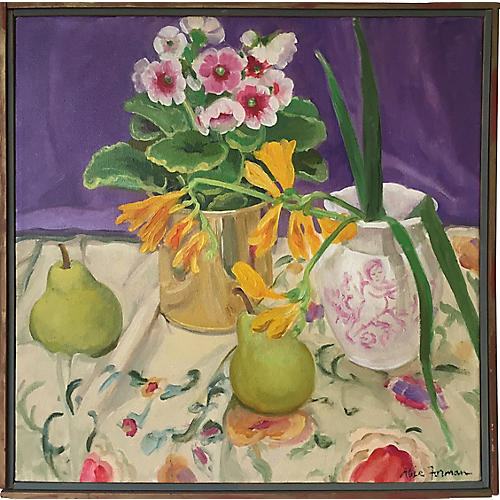 Flowers and Pears by Alice Forman