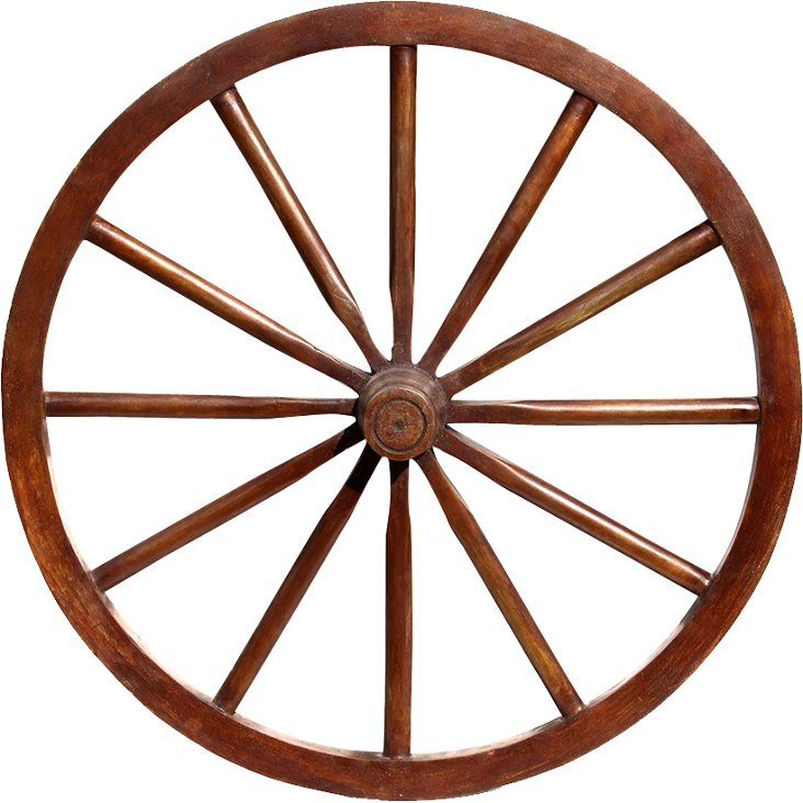 Bronze Wagon Wheel Sculpture