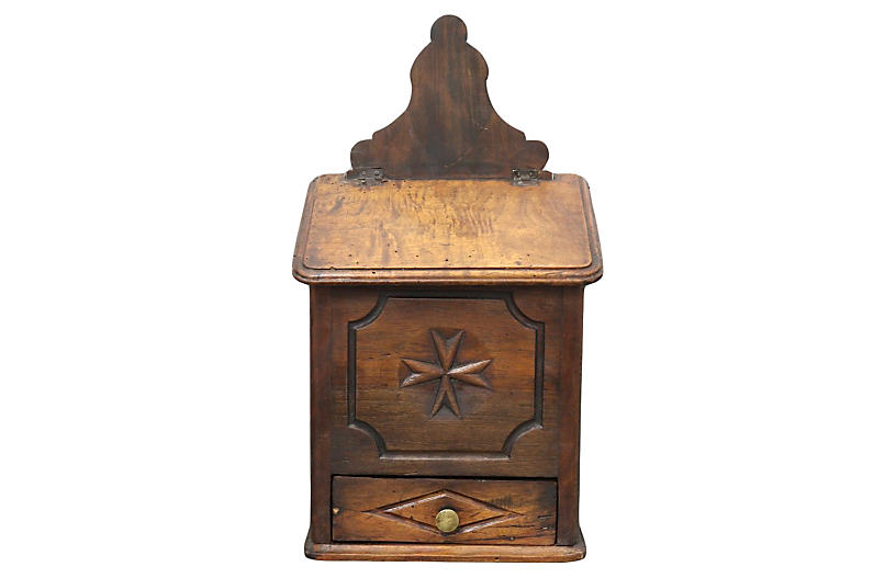 Antique French Hand-Carved Baking Box