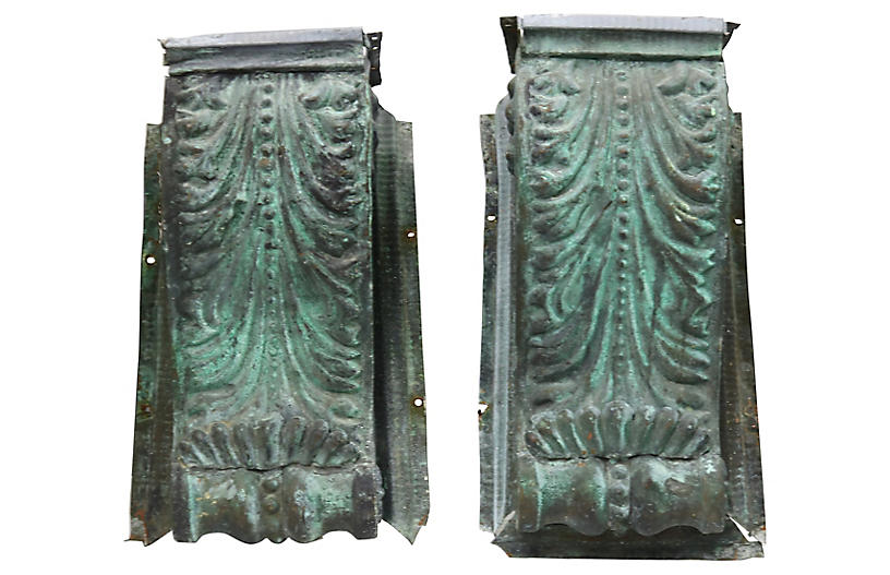 Antique Copper Architectural Pediments