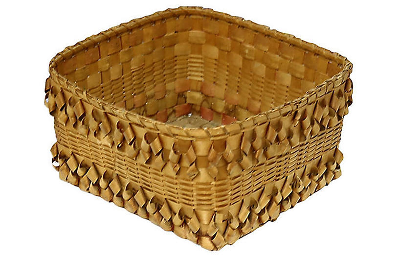 Handmade New England Indigenous Basket
