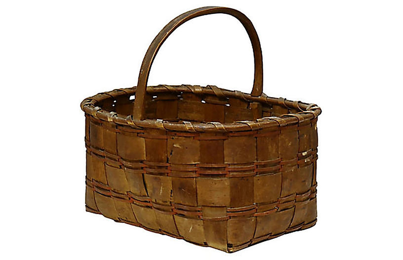 New England Indigenous Hand-Made Basket