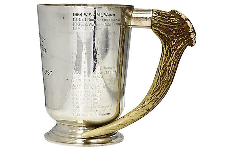 Stag Horn Handled Cattle Show Trophy Cup