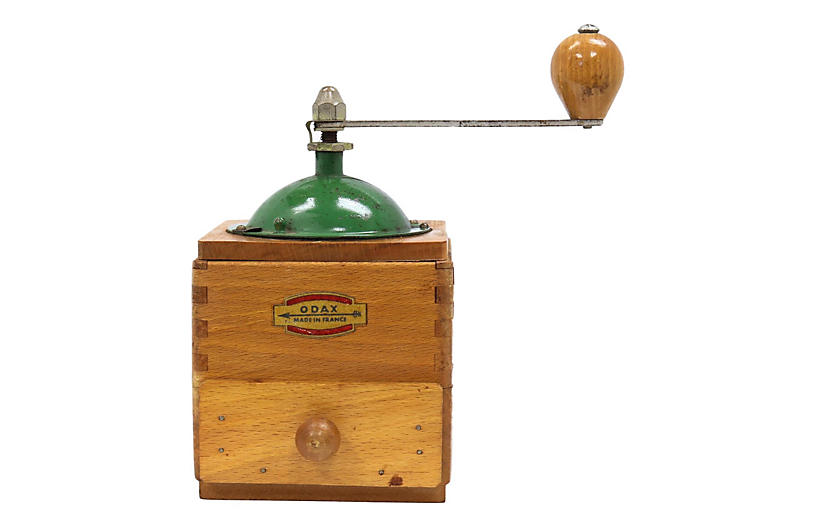 French Hand-Crank Coffee Grinder