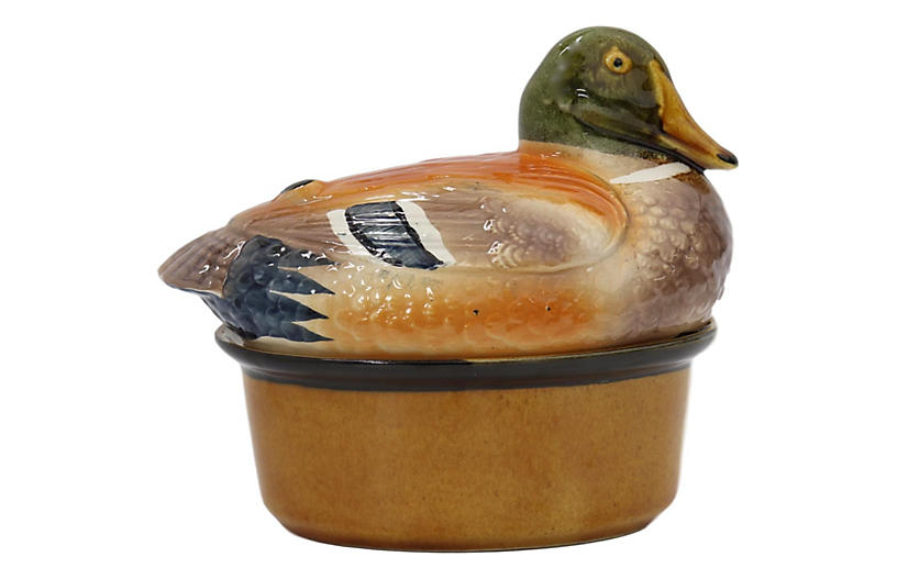 Midcentury French Duck Pâté Tureen