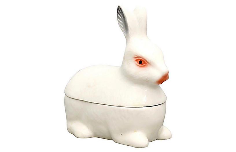 Midcentury French Majolica Rabbit Tureen