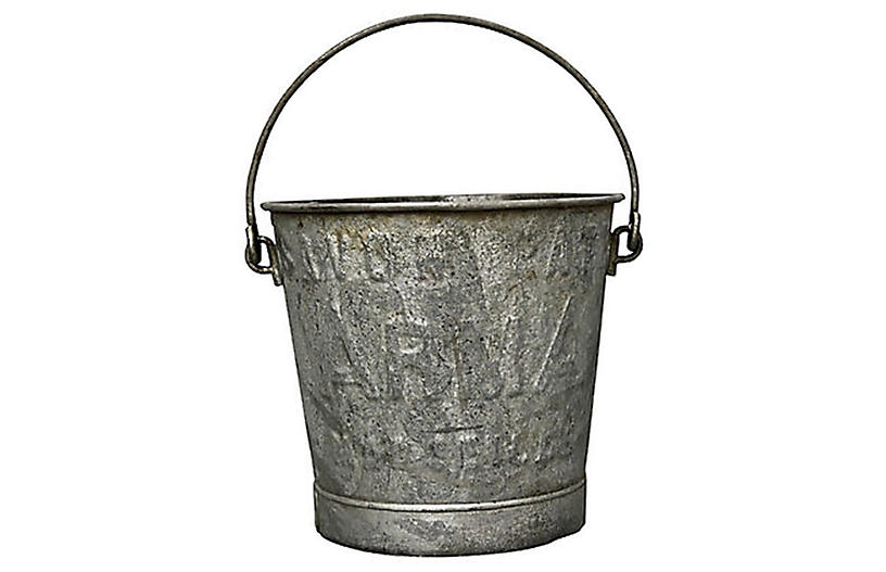1920s French Laundry Soap Bucket