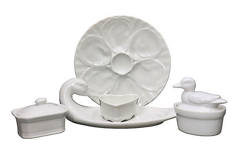 French Delicacies Serving Set, 5 Pcs