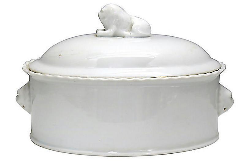 French Porcelain Cassoulet w/ Lion