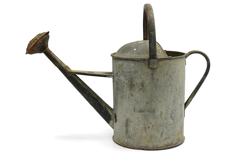 Antique English Galvanized Watering Can