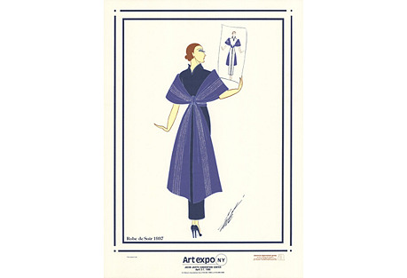 Robe de Soir by Erté, 1986