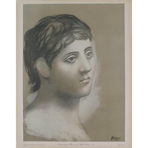 Tete de Jeune Homme by P. Picasso, 1948