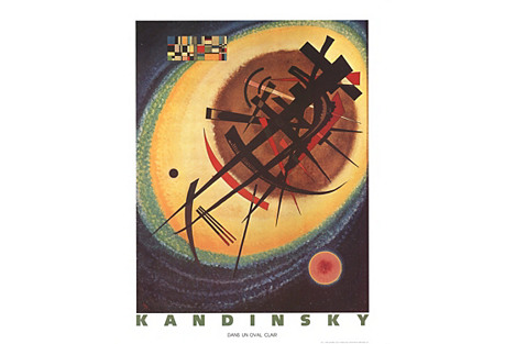 Bright Oval by Wassily Kandinsky