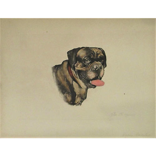 Le Chien, by Charles Manciet