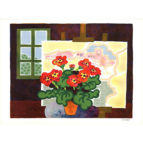 Geraniums by Guy Charon