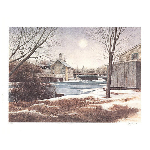 Dwight Baird - The Mill in Winter - 1988