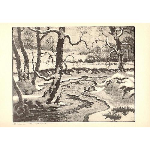 Benson B Moore - Frozen Streams - 1936