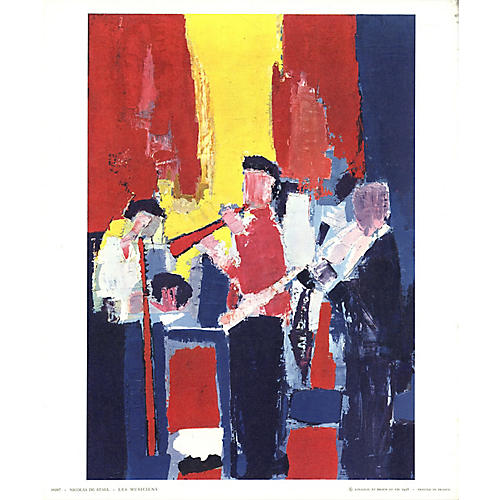 Jazz Players by Nicolas De Stael, 1958