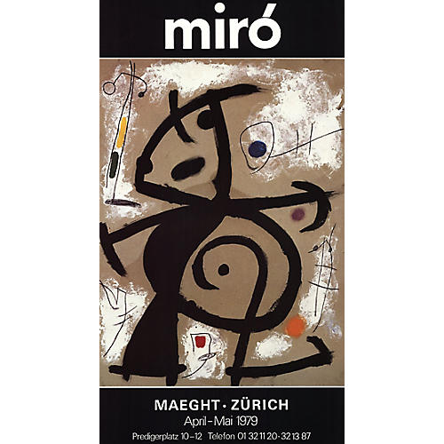 Maeght - Zurich by Joan Miró, 1979
