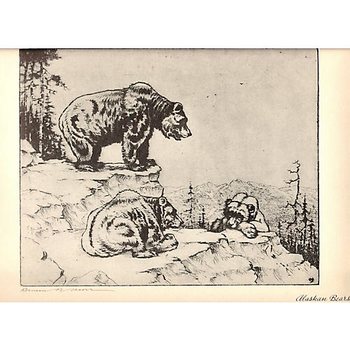 Alaskan Bears by Benson B. Moore