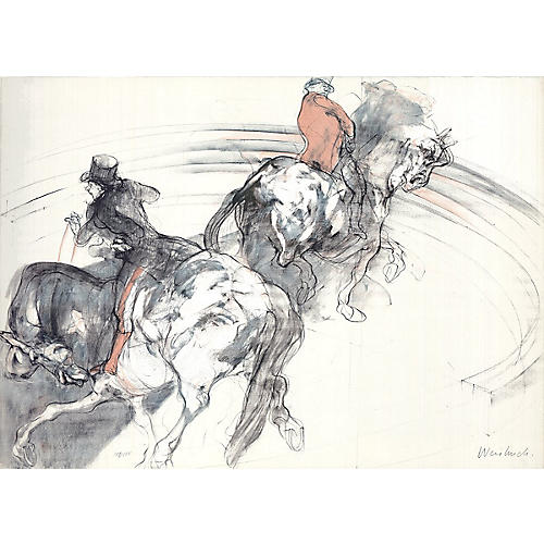 Deux Cavaliers by Claude Weisbuch