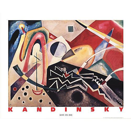 White Zig Zag by Kandinsky