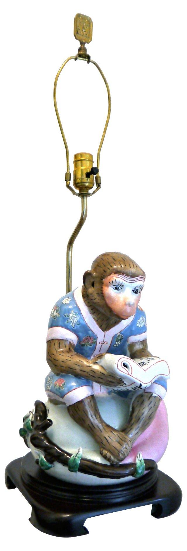 Asian Monkey Lamp