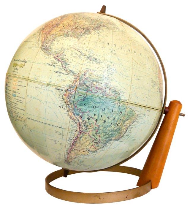 Atomic Globe w/ Pedestal