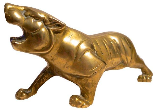1940s Heavy Brass Tiger
