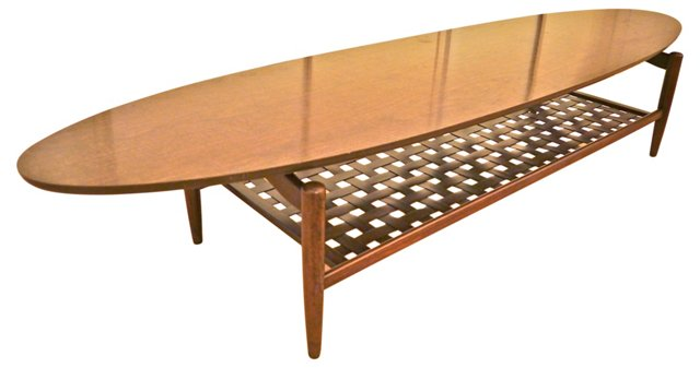 1960s Surfboard Coffee Table