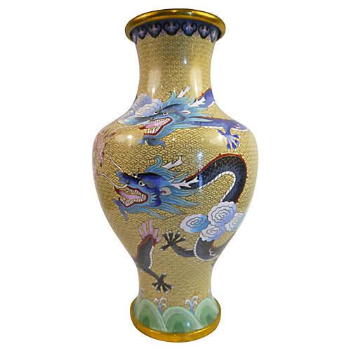 Cloisonné Dragon Vase