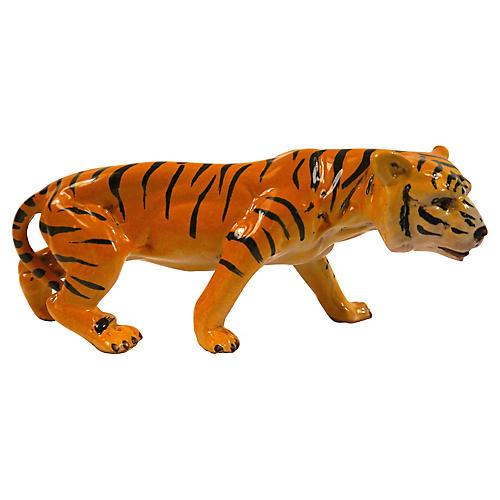 1950s Italian Ceramic Tiger