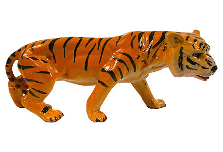 1950's Italian Ceramic Tiger