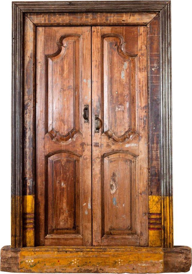 19th-C. Gujarat Door............