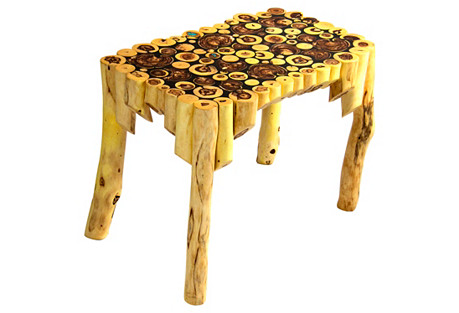 Caragana Table w/ Turquoise Inlay