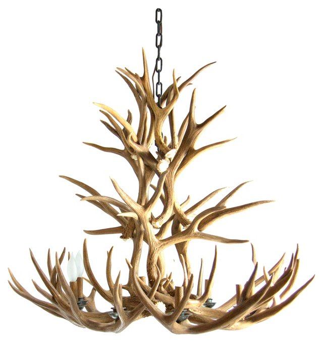 Wyoming Deer Antler Chandelier