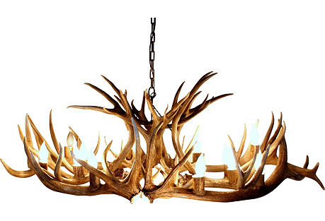 Oval Wyoming Antler Chandelier
