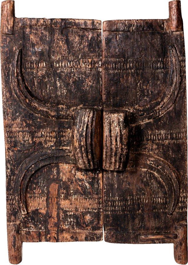 19th-C. Nagaland Doors, Pair