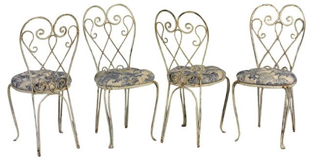 French Café Chairs, Set of 4