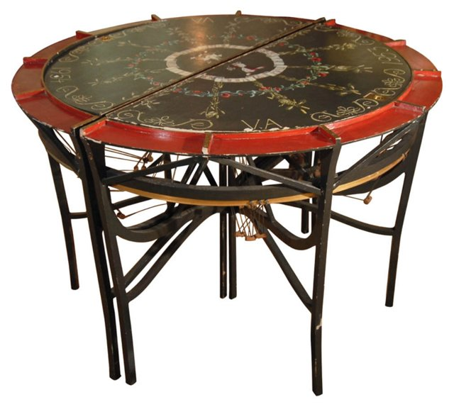 19th-C. French Lacemaker's Tables, Pair